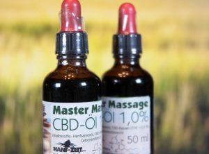 Hanf-Zeit – Master-Massage-Öl 1% | 50 ml <br>CBD Öl, 500 mg CBD