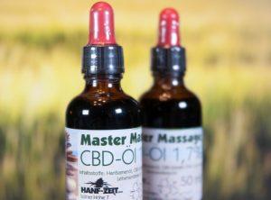 Hanf-Zeit – Master-Massage-Öl 1,7% | 50.00 ml <br>  CBD Öl, 850 mg CBD
