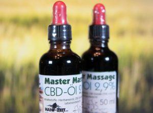 Hanf-Zeit – Master-Massage-Öl 2,9% | 50.00 ml <br>  CBD Öl, 1450 mg CBD