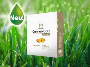 CannabiGold – Smart  | 10 Stück <br> CBD Kapseln, 100 mg CBD
