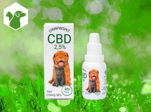 Cannabispet – CBD-Öl für Hunde und Katzen | 10 ml <br> CBD Öl, 250 mg CBD