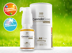 CannabiGold – Premium 15% | 12 ml <br> CBD Öl, 1500 mg CBD