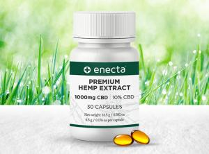 Enecta – CBD Capsules | 30 Stück  CBD Kapseln, 1000 mg CBD