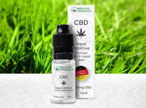 Breathe Organics – Vape Additive | 10 ml  CBD E-Liquid, 1000 mg CBD