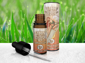 XEO – Green Mood 10 ml Full Range Mango Kush 50  | 10 ml <br> CBD E-Liquid, 50 mg CBD